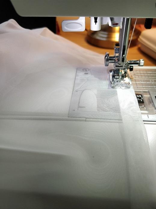 how to shorten net curtains